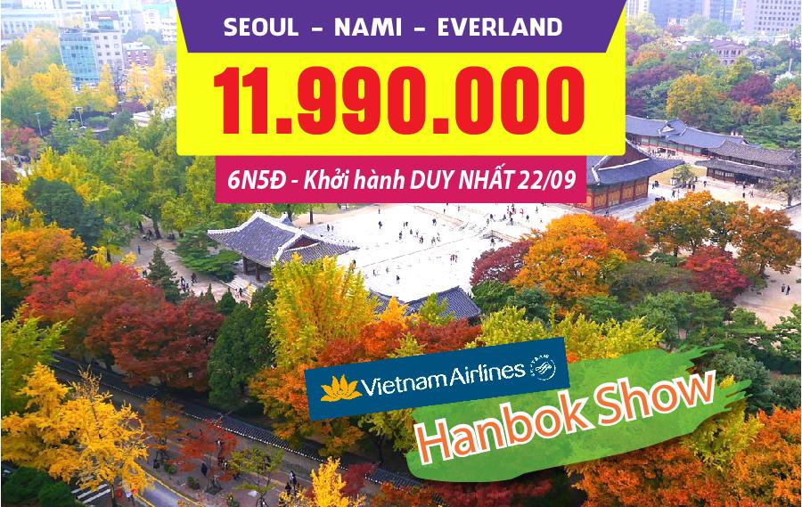HQ01. (6N5Đ) Bản tình ca mùa thu Seoul | Nami | Everland