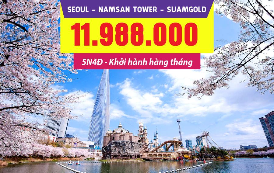 HQ12. (5N4Đ) Seoul | Namsan Tower | Suamgol (bay Vietjet)