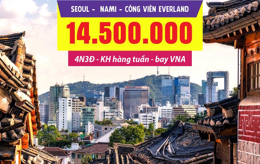 HQ16. (4N3Đ) Seoul | Nami | Công viên Everland