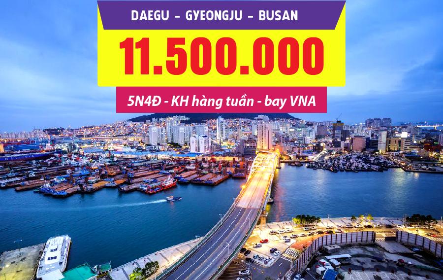 HQ17. (5N4Đ) Khám phá cố đô Hàn Quốc | Daegu | Gyeongju | Busan