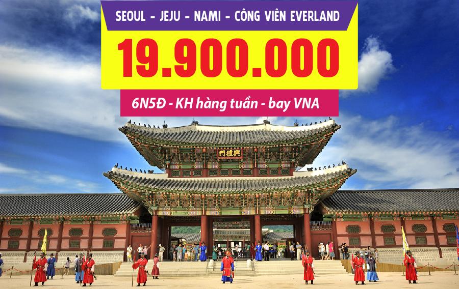 HQ20. (6N5Đ) Seoul | Jeju | Nami | Công viên Everland