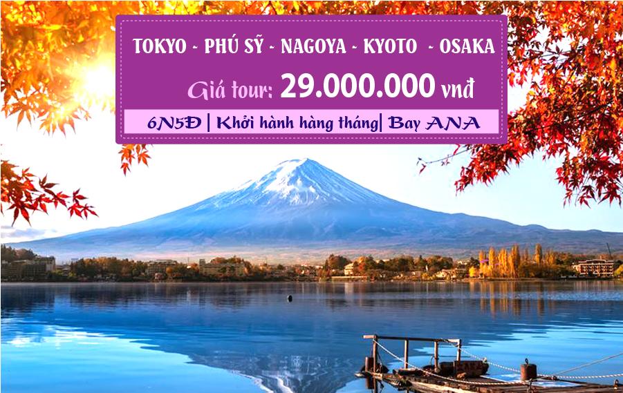 NB08. (6N5Đ) Tokyo | Phú Sỹ | Nagoya | Kyoto | Osaka (du lịch Nhật Bản mùa thu)