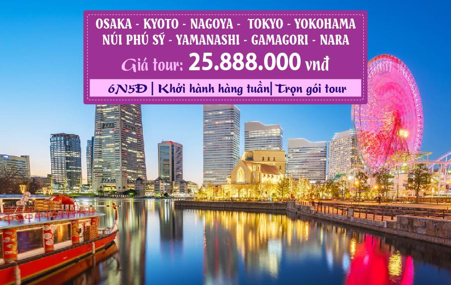 NB17. (6N5Đ) Osaka | Kyoto | Nagoya | Tokyo/Yokohama | Yamanashi | Nara