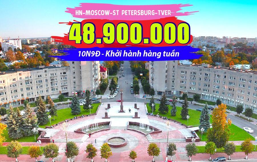 TK22. (10N9Đ) Hà Nội | Moscow | St Petersburg | Tver | Moscow | Hà Nội