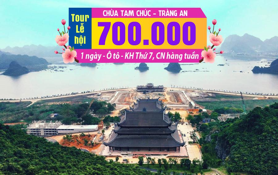 LH02. (1N) Hà Nội | Chùa Tam Chúc | Tràng An