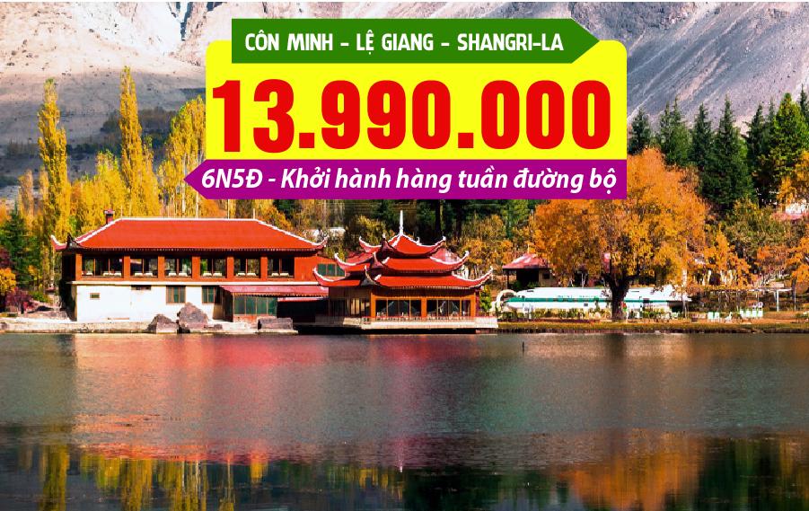 TQ17. (6N5Đ) Côn Minh | Lệ Giang | Shangri-La (Đường bộ)
