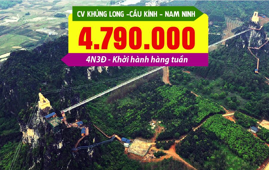 TQ19. (4N3Đ) Hà Nội | Công viên Khủng long | Cầu kính dài nhất châu Á | Nam Ninh