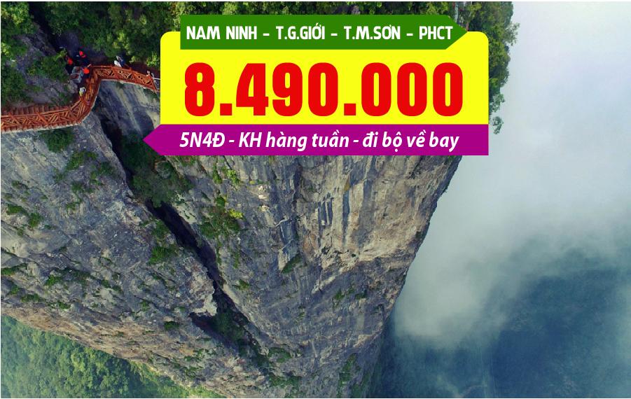 TQ20. (5N4Đ) Nam Ninh | Trương Gia Giới | Thiên Môn Sơn | Phượng Hoàng cổ trấn
