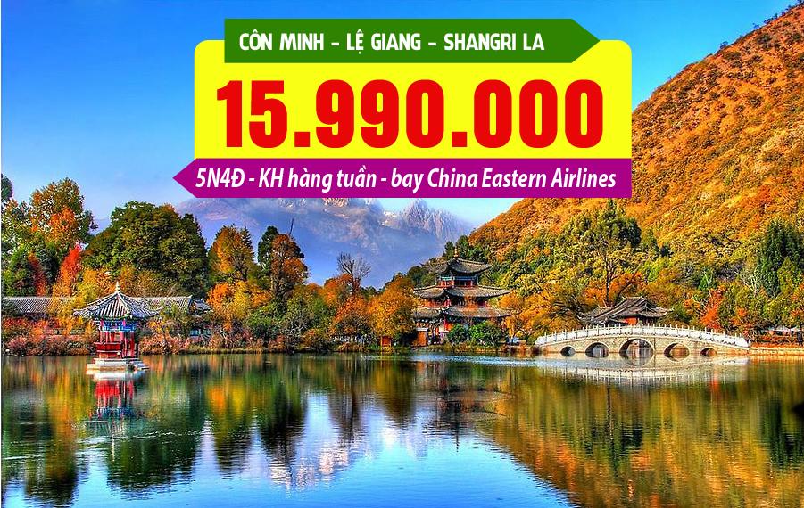 TQ32. (5N4Đ) Tour Trung Hoa cảnh sắc: Côn Minh | Lệ Giang | Shangri la
