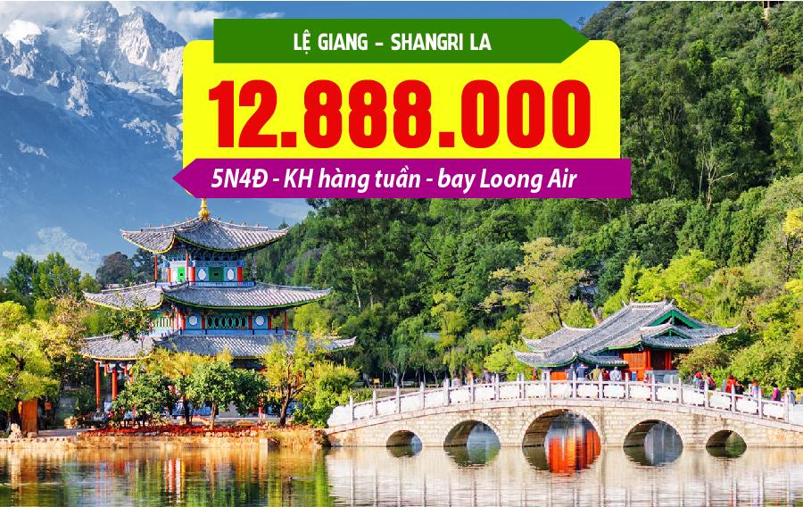 TQ37. (5N4Đ) Hà Nội | Lệ Giang | Shangrila | Lệ Giang | Hà Nội