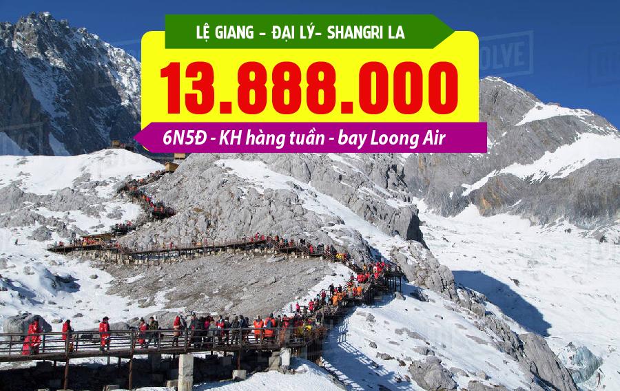TQ38. (6N5Đ) Hà Nội | Lệ Giang | Đại Lý | Shangrila | Lệ Giang | Hà Nội