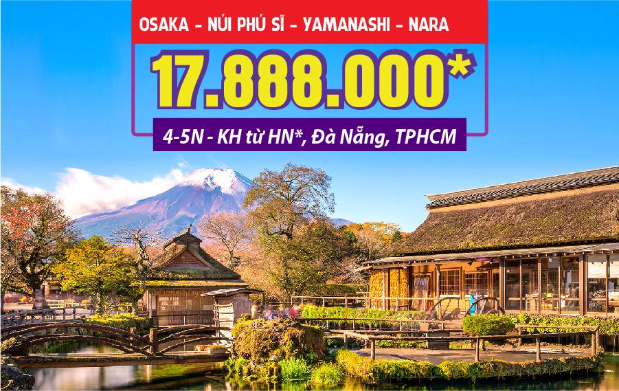 NB02. (4N3Đ) Osaka | núi Phú Sĩ | Yakamashi | Nagoya | Nara (bay từ Hà Nội)