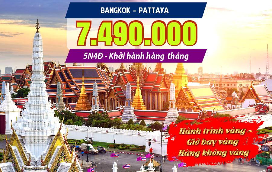 5N4Đ Bangkok - Pattaya Hành trình Vàng
