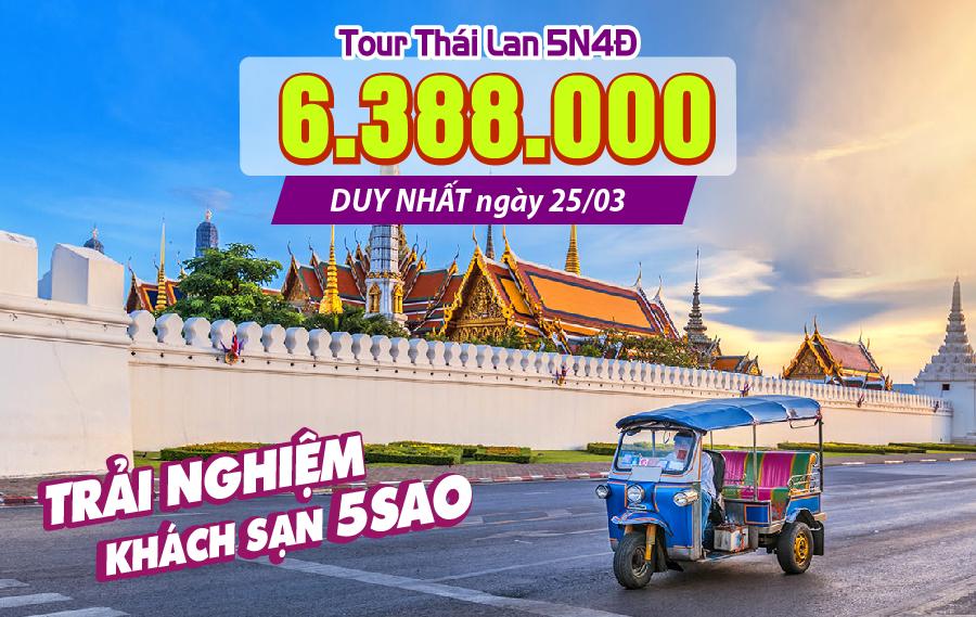 Du lịch Bangkok | Siam cổ đại | Pattaya | khách sạn 5 Sao | 5N4Đ