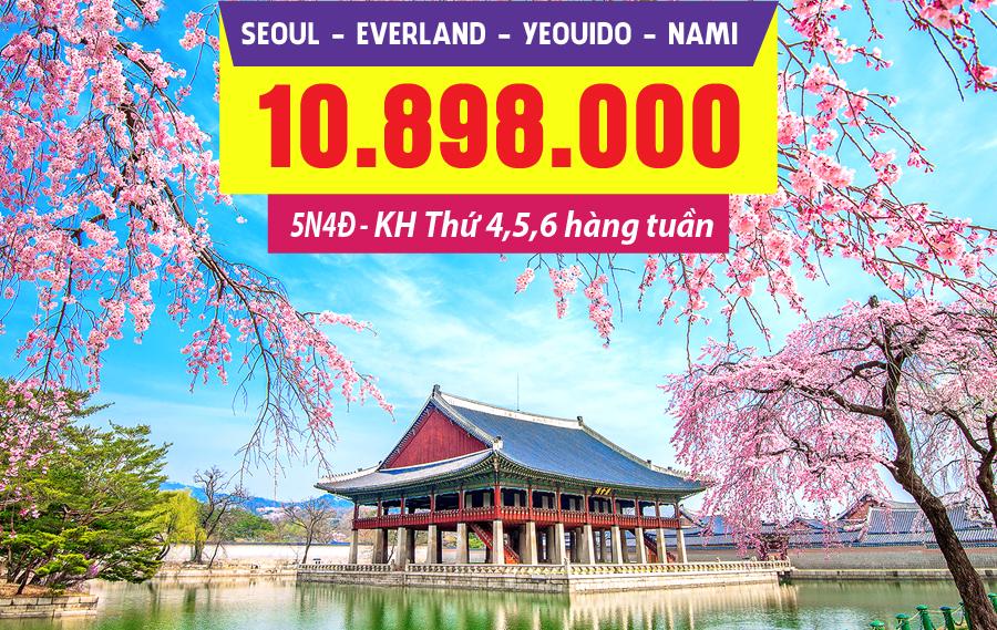 HQ09. (5N4Đ) Seoul | Everland | Yeouido | Nami