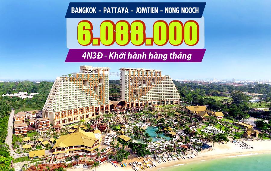 TL10. (4N3Đ) Bangkok | Pattaya | bãi biển Jomtien | vườn lan Nong Nooch