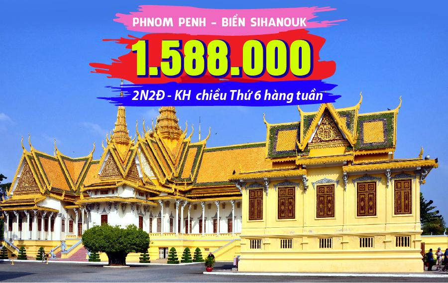 TK14. (2N2Đ) Du lịch Campuchia | Phnom Penh | Biển Sihanoukville