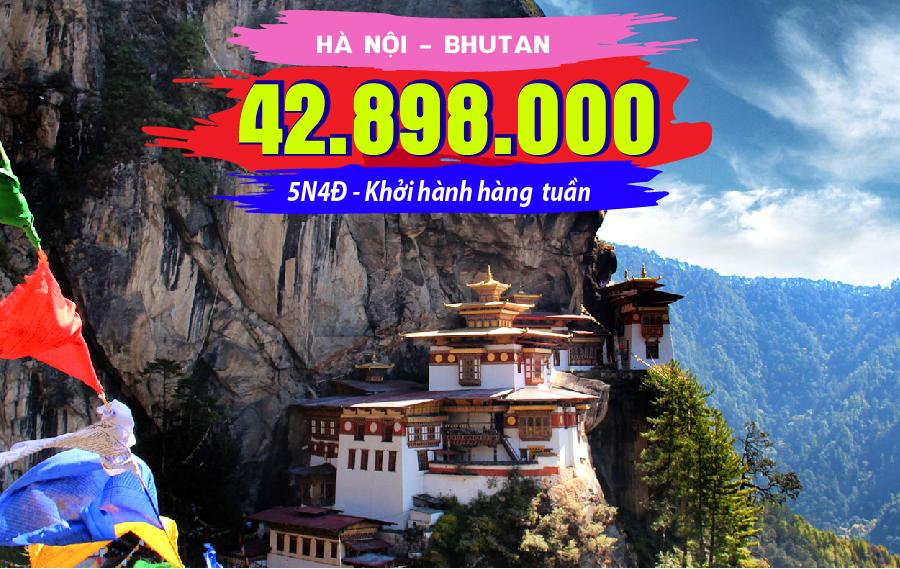 TK12. (5N4Đ) Du lịch Bhutan