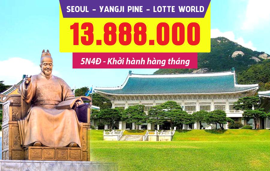 HQ11. (5N4Đ) Seoul | Yangjipine | Lotte World