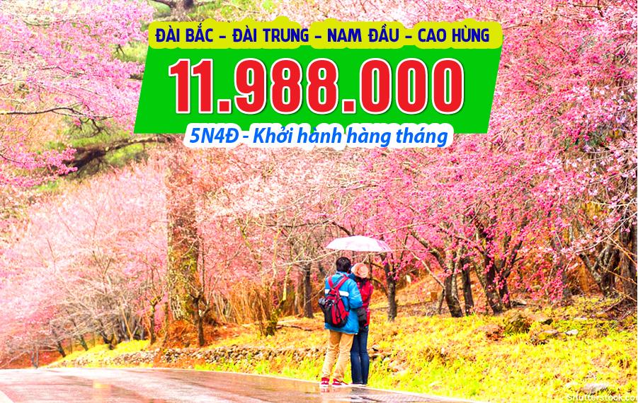 ĐL02. (5N4Đ) Đài Bắc | Đài Trung | Nam Đầu | Cao Hùng